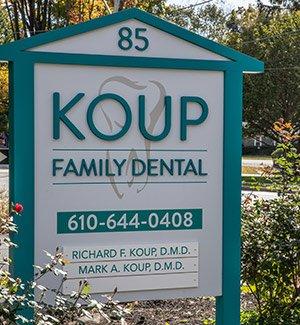 Koup Family Dental sign